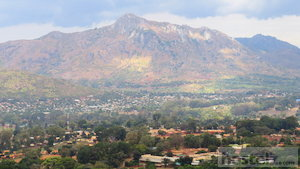Zomba town from the plateau road