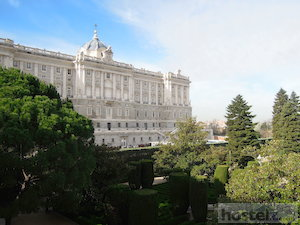 The Palace in Madrid overlooking the park near Plaza de España