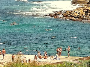 Just across the street from bondi Beach