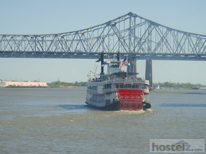 One of the steam boats on the Mississippi