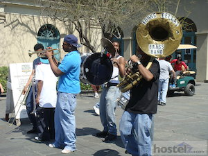 Every street in the French Quarter is full of music, this is one of the many bands playing in the streets.