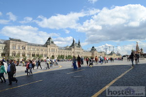 Red Square is located in the heart of Moscow.