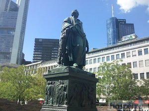 Statue of Johann Wolfgang von Goethe in the Goetheplatz