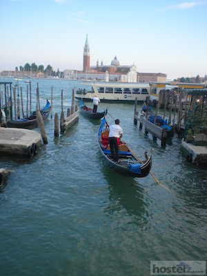 Gondolas on Venice's Grand Canal