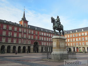 The Plaza Mayor in Madrid