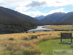 Makarora river near Haast pass