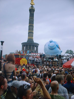 The Tier Garten during the the Love Parade