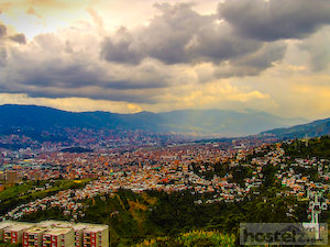 View of the valley and Medellín City
