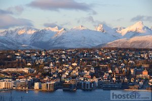 Tromsø with its snow-capped mountain backdrop