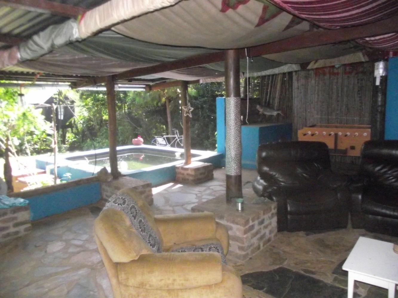 Outside lounging area and communal plunge pool
