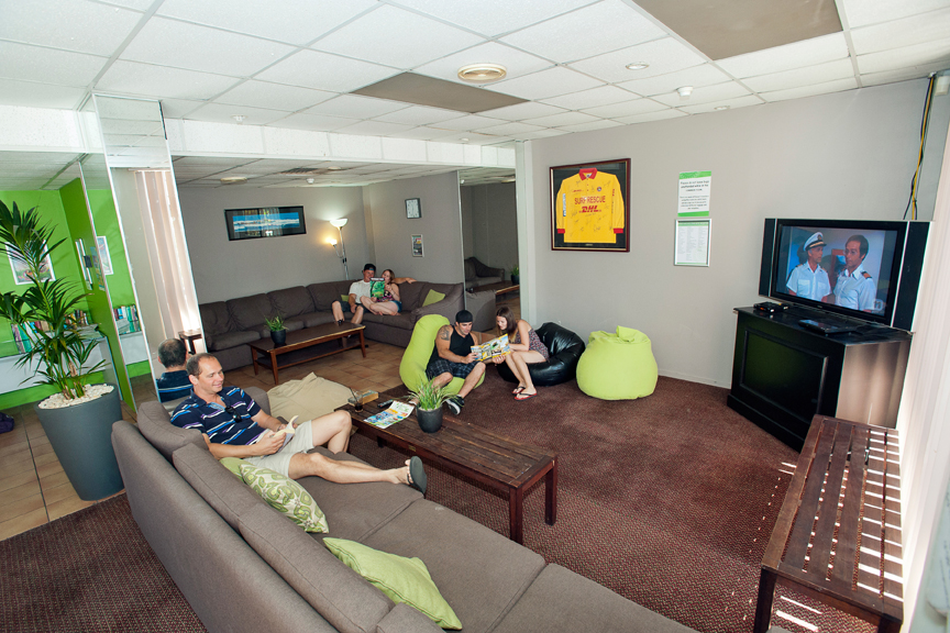 Backpacker common room