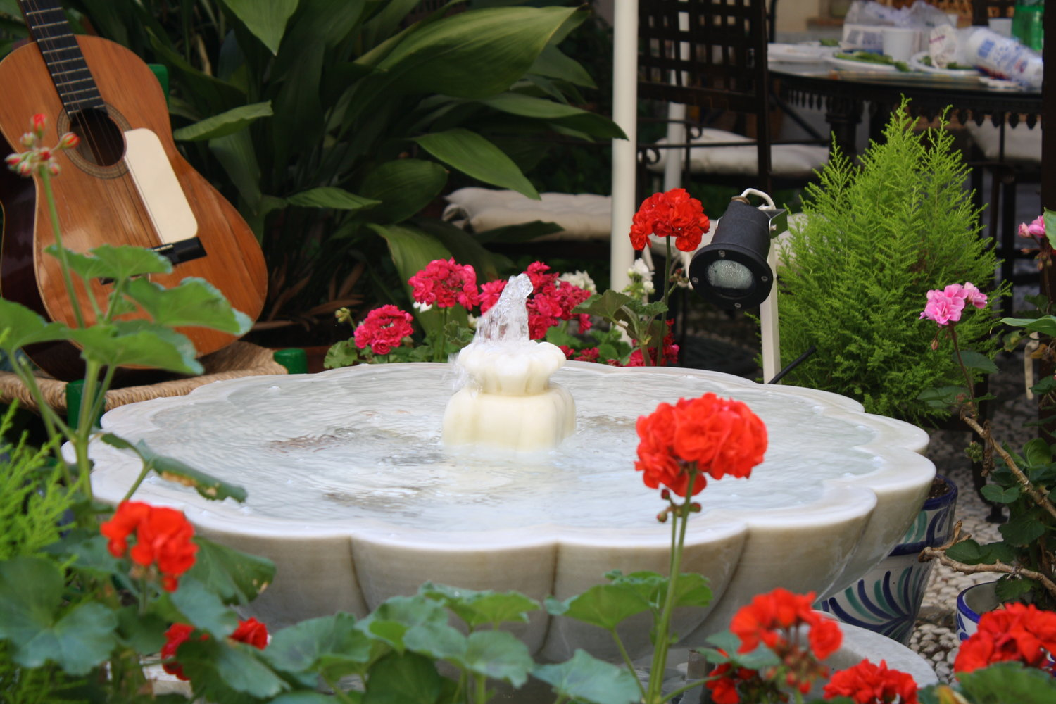 Marble fountain in the Granadian Patio