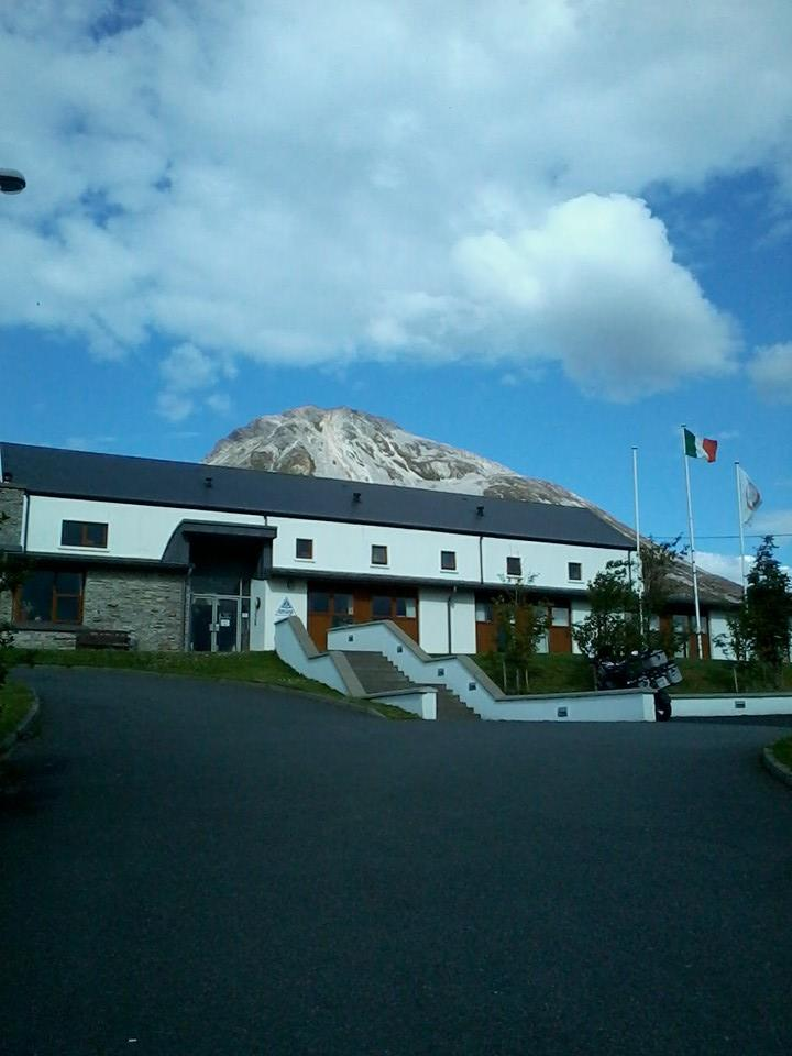 The Hostel with Errigal towering behind us