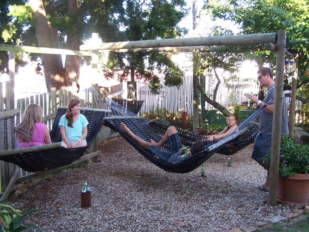 Hammock area at Albergo for Backpackers