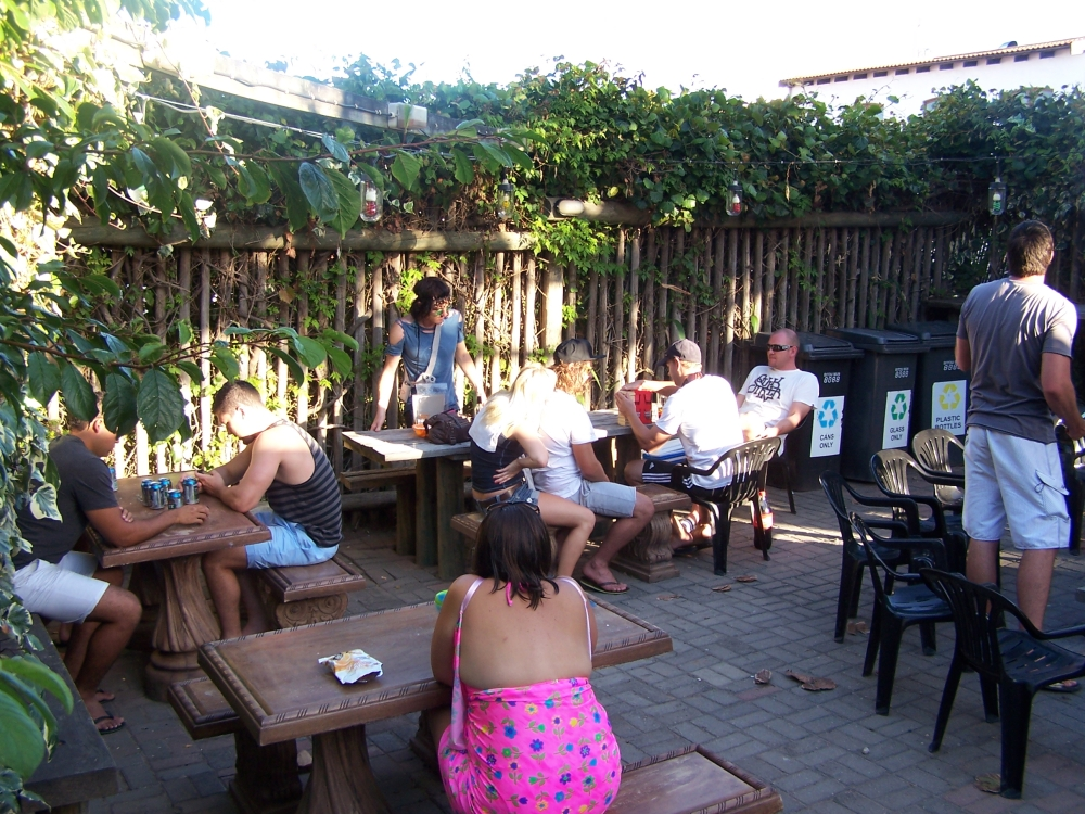 Braai area at Albergo for Backpackers