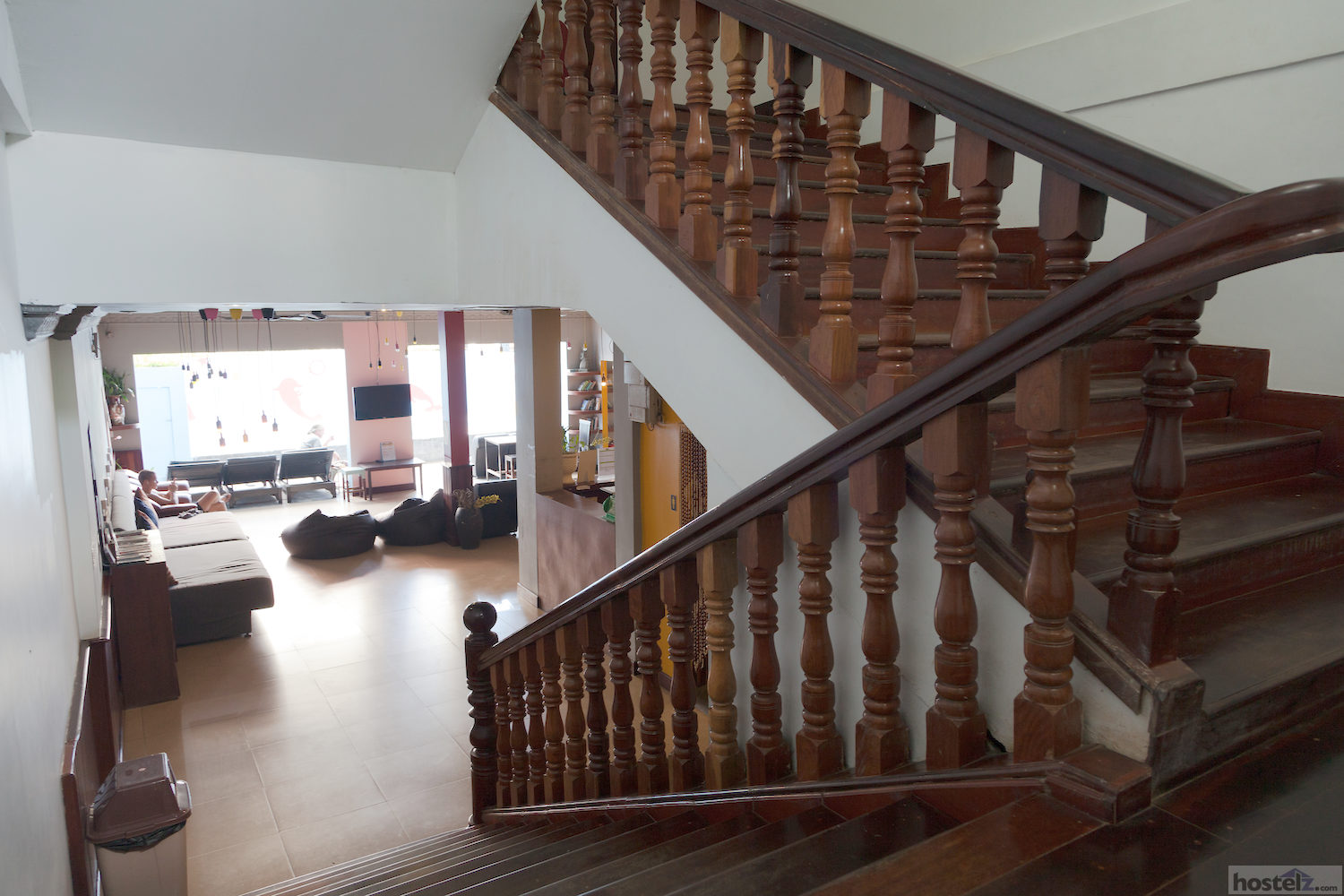 Large wooden staircase