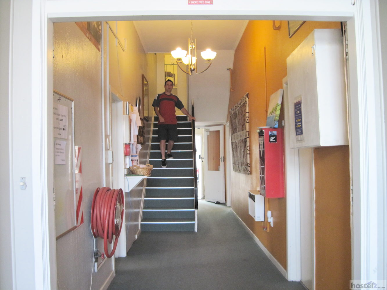 Main staircase viewed from front entrance