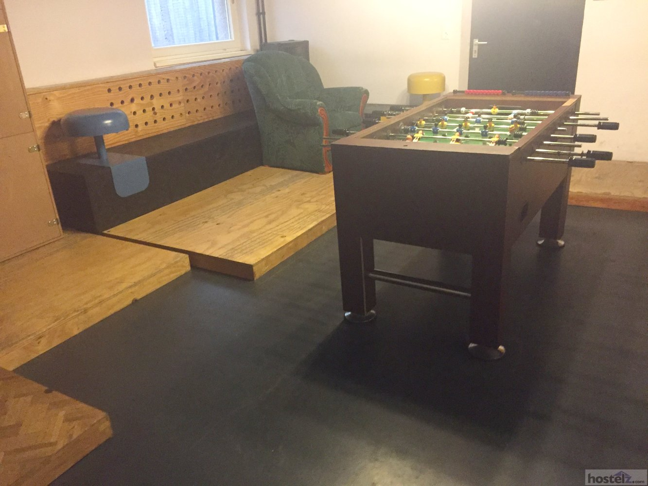 Foosball in the rec room