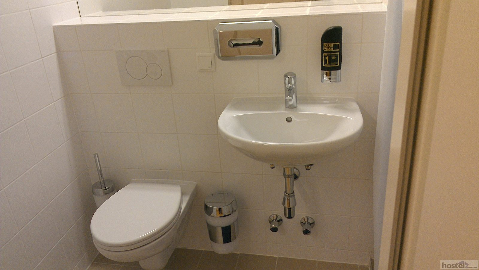 sink and toilet, in bathroom, in room