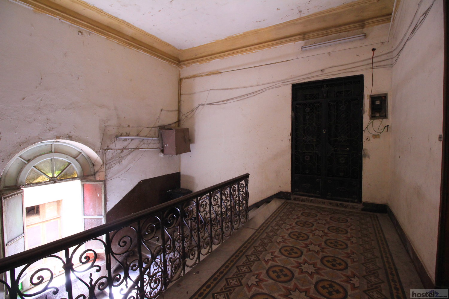 The top floor entry.