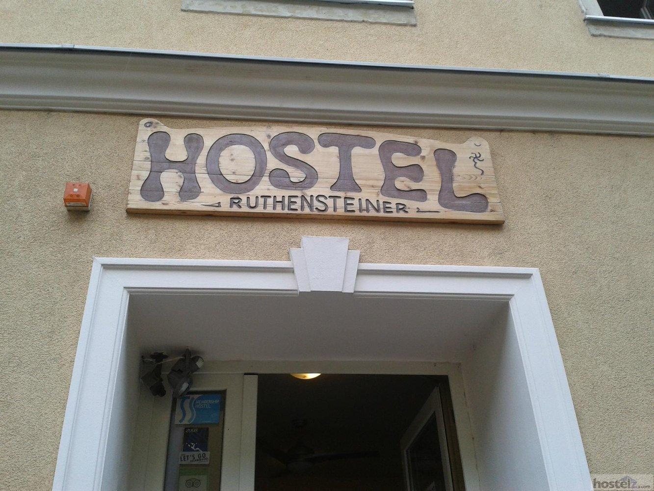 The front of the hostel.