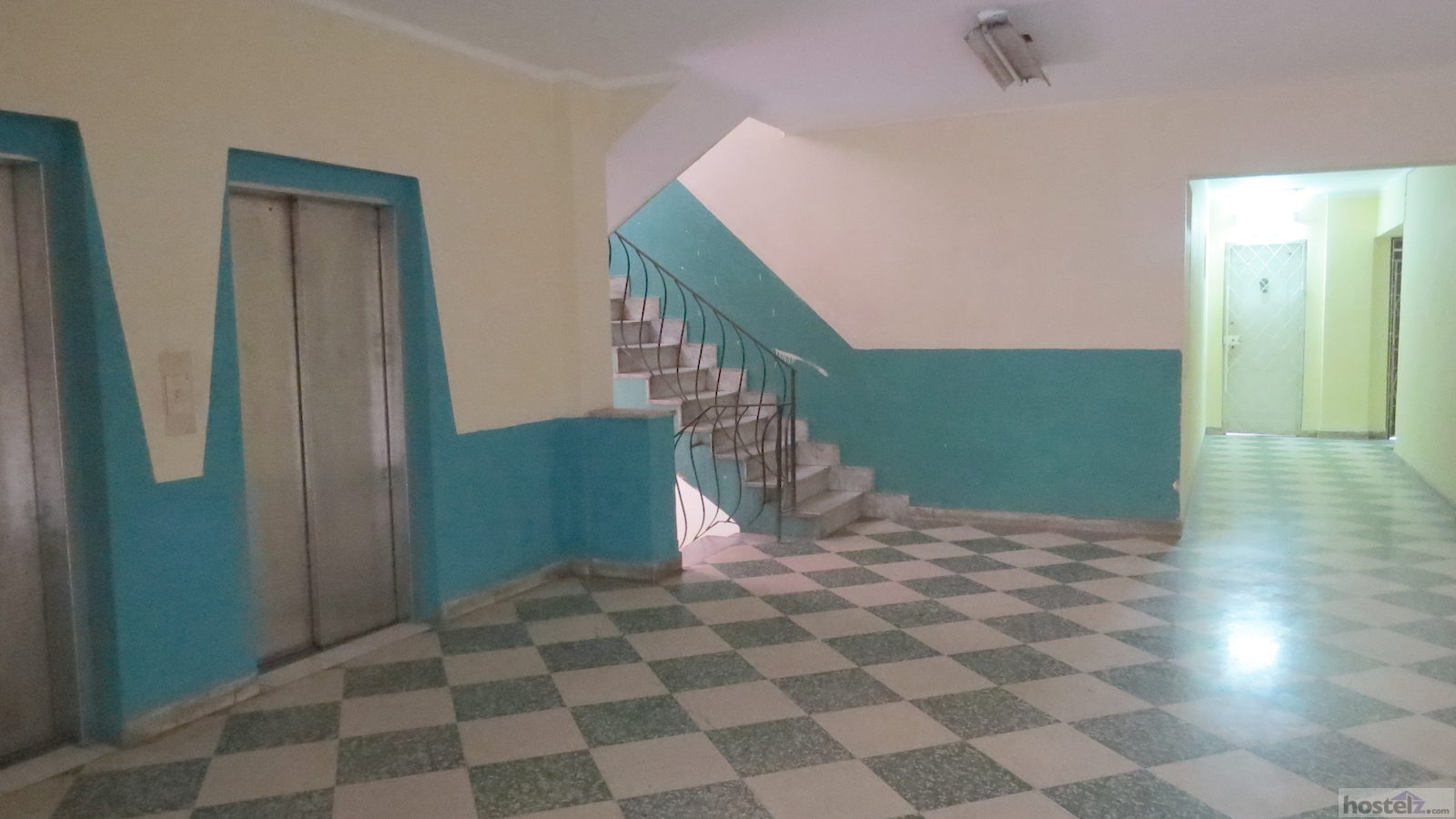 Hallway From Lifts to Hostel Door