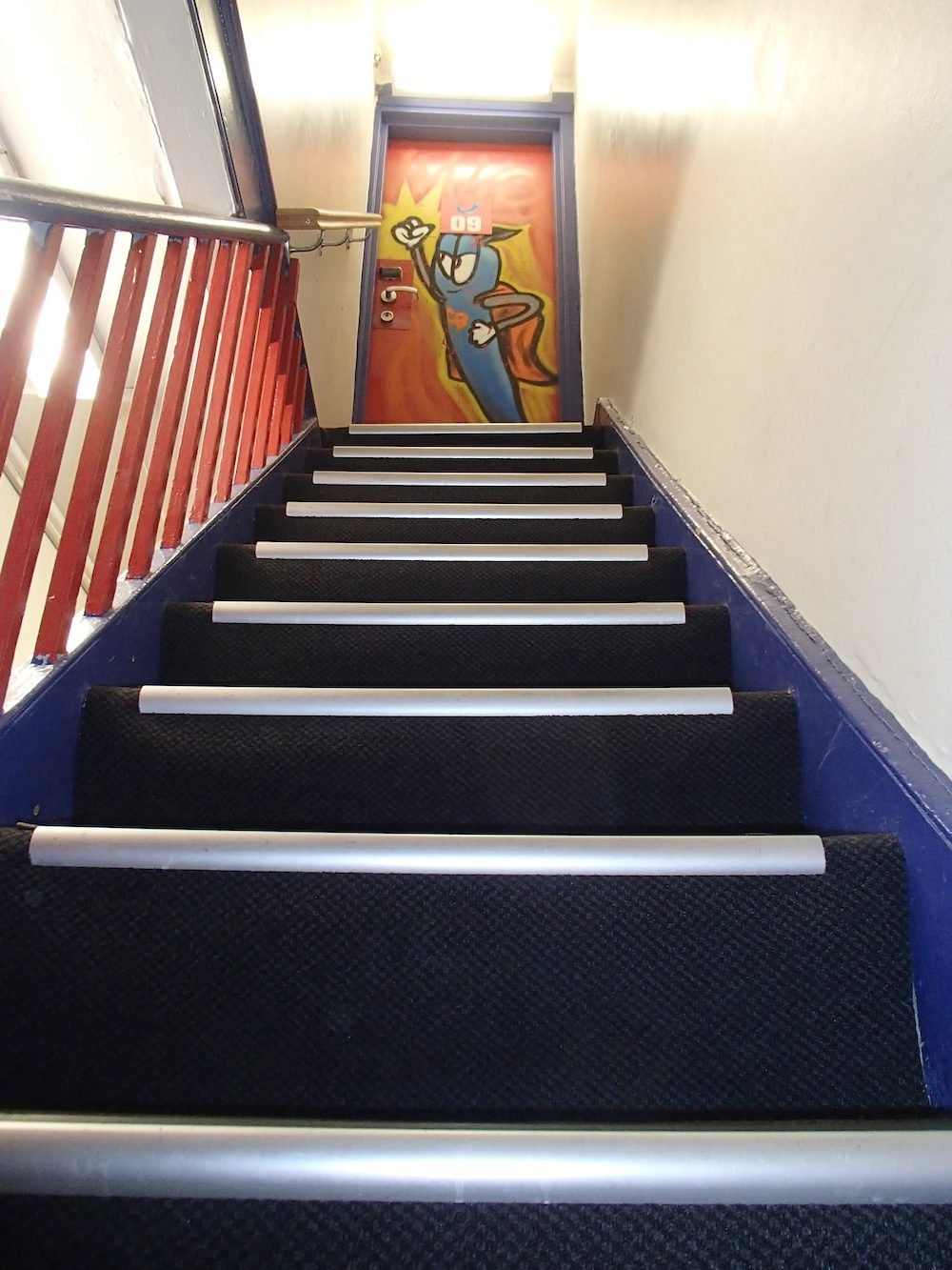 Stairways to a dorm