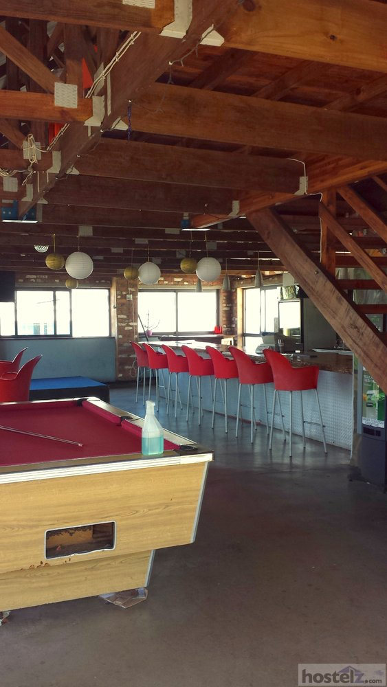 roof top bar with pool table