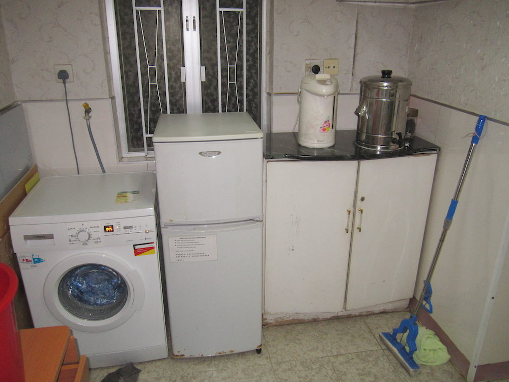 Laundry service, food storage and hot water are available.