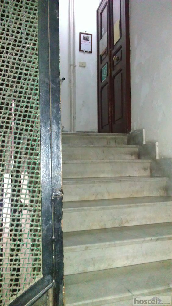 stairs to rooms door