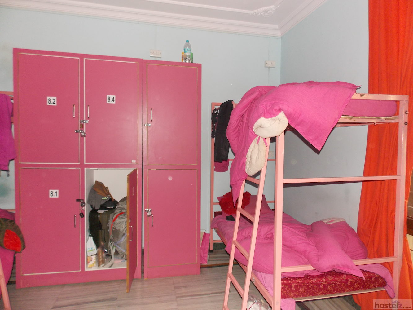 bunk bed and lockers